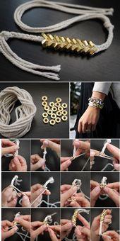 DIY braided hexagon nut bracelet inspired by Philip Grangi Giles & Brothers… – Diyprojectgardens.club