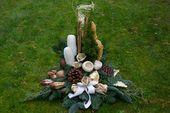 Grabgesteck für Allerheiligen selber machen – Anleitung für wunderschönen Grabschmuck – Bastelideen