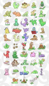 Baby Ilustration Dinossauros Diversos e Bonitinhos