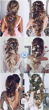 Loose hairstyles chic brides long braids for wedding 2018 # hairstyles … »Trends …