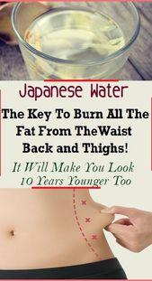 Japanisches Wasser: Der Schlüssel zur Fettverbrennung an Taille, Rücken und Oberschenkeln! Es…   – DIET AND WEIGHT LOSS