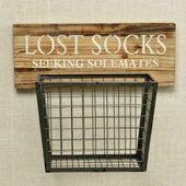 Schatz … Wo ist meine Socke! Dieser Holz- und Me…