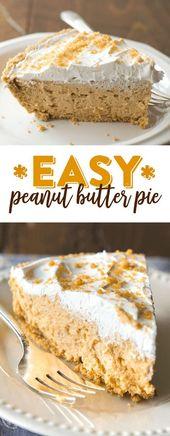 Easy Peanut Butter Pie Recipe – Best No Bake Peanut Butter Pie!
