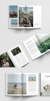 Plantilla para Auckland / InDesign Magazine #magazine #brochure #template #brochure …   – — Minimal Layouts