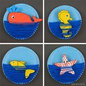Pappteller Ocean Craft für Kinder – Vorlage verfügbar