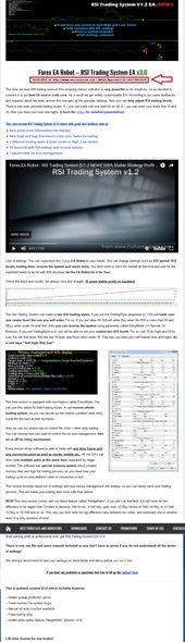 Forex Ea Robot Rsi Trading System V3 0 Ea Updated Enjoy Free