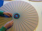weven techniek om textiel te maken met behulp van 2 soorten draden