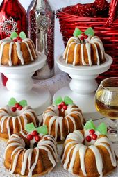 Tortas Navideñas Mini Bundt   – DIY Christmas Gifts