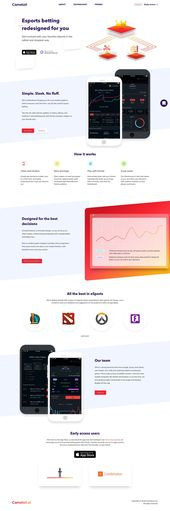 Mobile App Landing Page Design Example by Camelot