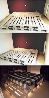 Projets de palettes en bois bricolage créatifs et uniques #uniques # palettes en bois