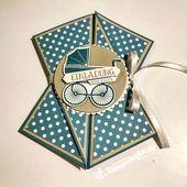 Baby Cards Diagonale Faltkarte mit Produkten von Stampin' Up! gebastelt. DIY Karten für ...