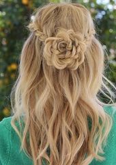 Flower Braid Frisuren für Jugendliche