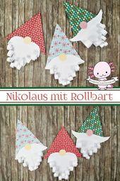 Nikolaus basteln mit Kindern und Kleinkindern – Bastelnmitkids