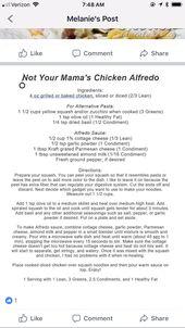 Lean & Green Chicken Alfredo #Optavia #LeanandGreen #EmpowerYourHealth
