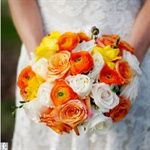 Ranunculus bouquet.  Love those colors. Perfect for Courtney's wedding!  – A Girl Can Dream… Right?