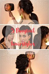 5 Ponytail hairstyle. Everyday ponytail. 5 chic ponytails. easy hairstyle easy hairstyles halfup halfdown hairlook dutch braid fake braid ponytail pon…
