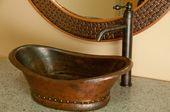 contemporary bathroom sinks Bathtub Vessel Copper …