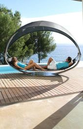 Two Person Hammock With Splendid Design. This Outdoor Bed Is Suitable To  Take Place At Outdoor Pool Side. Seating Or Lie U2026 | Pinteresu2026