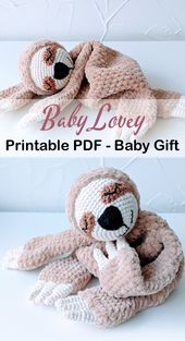 Baby Blanket Baby Lovey Crochet Patterns - Cute Gifts - A More Crafty Life