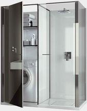 40 kleine Waschküche Ideen und Designs   – Laundry room storage stackable