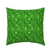 Geek Pillow Sham – Im Just Wired Differently Green by wickedrefined – Electric  Technology  Cotton Sateen Pillow Sham Bedding by Spoonflower