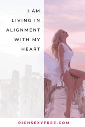 I Am Residing In Alignment With My Coronary heart | Female Mantra | Life Function Quote | Girls Entrepreneurs