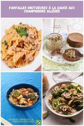 dieta vegetariana Pasta cremosa con salsa de champiñones magra   – 2-week-diet-plan