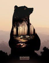 Photo of Smoky Mountain Tourism Poster von Nathan Carver Silhouette Mensch, innen Wohlfà …