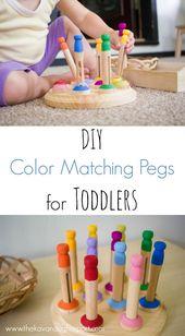 DIY Color Matching Pegs für Kleinkinder