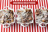 Gingerbread Pecan Bread Pudding