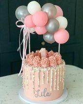 Die 27 schönsten Ideen für den ersten Geburtstagskuchen, die Sie jemals sehen werden   – Pink birthday cakes