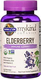Elderberry Immune Gummy From Garden Of Life Organic Vegan Kosher Product Elderberry Zinc Vitamin Herbal Supplements
