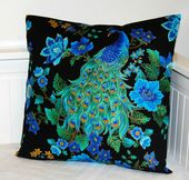 Peacock blue decorative pillow cover, cushion cover 18 inch
