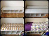 My first ikea hack – to get a bed to fit in a smal…
