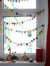 Kinderzimmerdeko Fenster Karneval Bunt – #Bunt #Fenster #flag #Karneval #Kinderz… – images