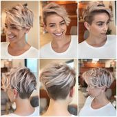 Find out here whether a short model with shaved edges is something for you! – # bob hairstyles # bride hairstyles #cool hairstyles #women's short hairstyle …