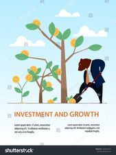 Banner Bear Dig Shovel Tree Business Investment. Data Diagram Trade Income Statistic. People Sell Dollar on Stock Market. Global Finance Transaction T…