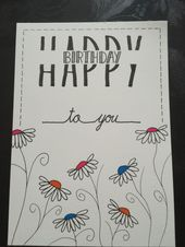Hand lettering birthday card