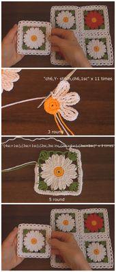 Easy Crochet Flower Motif – Learn to Crochet – Crochet Kingdom