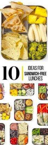 """10 Prep-and-Pack Lunch Ideas That Aren't Sandwiches   – Lunch für """"Groß""""/Büro und """"Klein""""/Kiga/Schule"""