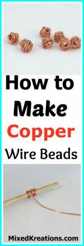 How to Make Copper Wire Beads –   – #Banglebraceletsdiy #beads #Copper #diyjewel…