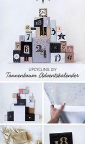 Upcycling DIY: Der Tannenbaum Adventskalender*