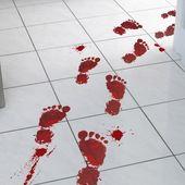 Halloween Party Decor Bloody Footprints Floor Stickers