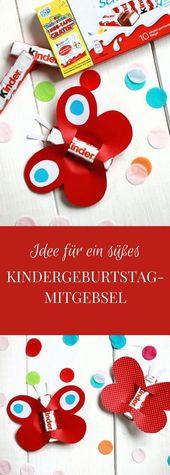 Anzeige: Kindergeburtstag feiern: Ideen für eine Kindergeburtstag-Einladungskarte und ein Kindergeburtstag-Mitgebsel mit Ferrero kinder Schokolade – Kindergeburtstag