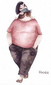 Snezhana Soosh es una artista ucraniana de 37 años. famoso por las ilustraciones …   – Папа дочь