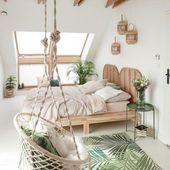 Ehrfürchtige 20 kreative Boho Schlafzimmer-Dekor-Ideen, die Sie DIY können