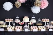 A sweet-sweet #Candybar with cupcakes, cake pops, and tartlets for the #Ho …   – Candybar