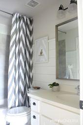 shiplap boy's bathroom reveal