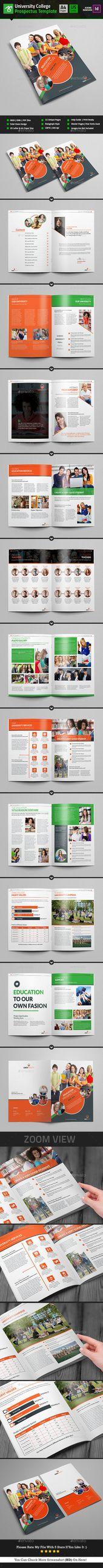 University College Prospectus Design / Magazine – Catalogs Brochure Template InDesign INDD. Download here: graphicriver.net/…