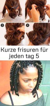 Short hairstyles for every day #bobhaircut #frisurenlange #pferdeschwanz #schnellefrisuren